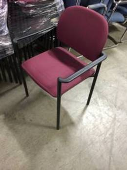 Chromecraft Stacking / Side Chair Burgundy