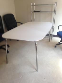 6ft White Laminate Table