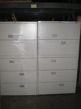 "5 Drawer 36"" Wide Global Lateral File Putty"