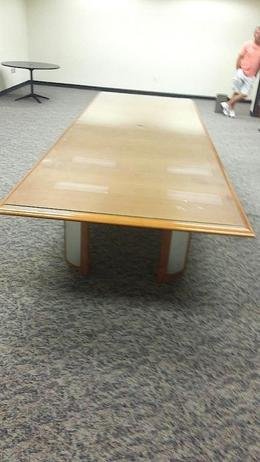 "14"" Conference Table W/ Glass"