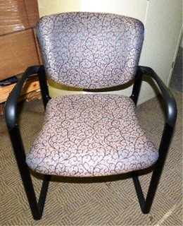 HAWORTH IMPROV SERIES SLED BASE CHAIR PAISLEY