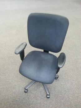 Black Fabric task chairs- Multi adjustable