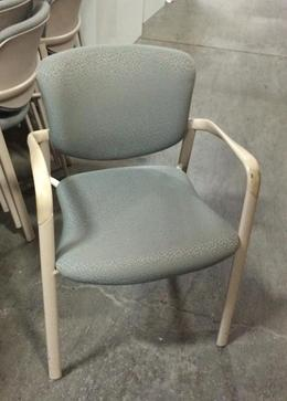 Haworth Side Stack Chairs Taupe Fabric