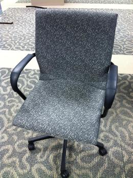 Steelcase Protege--Gray Floral Pattern