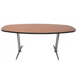 6' Oak Laminate Boat-Shaped Conference