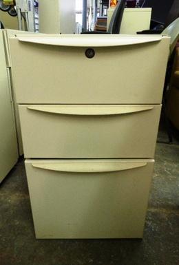 HAWORTH MOBILE PEDESTAL FILE BOX/BOX/FILE TAN