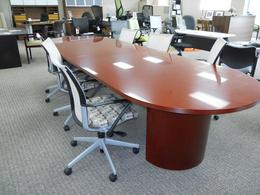 12' Wood Veneer Conference Table