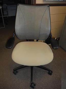 Humanscale Liberty Task Chair-Tan Fabric Seat