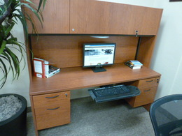 Used Office Desks Teknion Knee Hole Credenza And Hutch