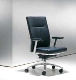 Bernhardt Black Leather Pilot Chairs