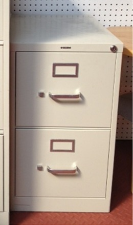 HON 2-Drawer Letter Vertical File