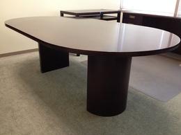 8' dark mahogany conference table