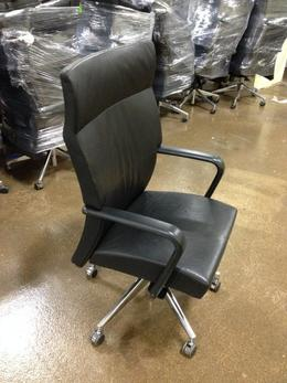 Beautiful Used Leather Conference Chairs