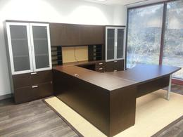 L Shape Desk with Storage