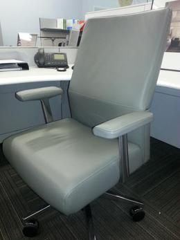 Steelcase Grey Leather High Back