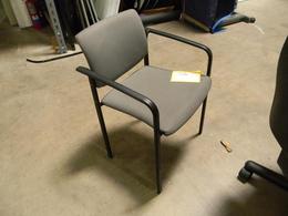 Gray Sidekick Padded Stack Chair