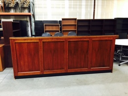 Traditional Mahogany Welcome Desk