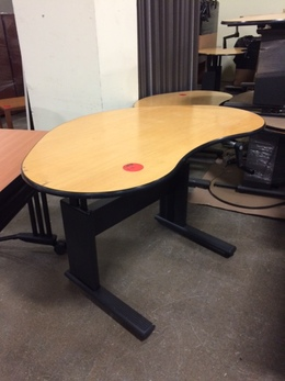 Used Adjustable Height Mobile Desks