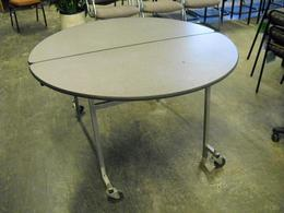 Round Mobile Folding Tables