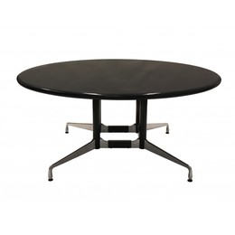 5.5' Eames Black Granite Round Conference