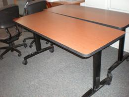 24 x 60 Mobile Training Room Tables Cherry