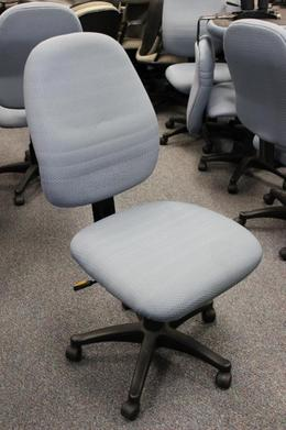Light Blue Armless Task Chairs