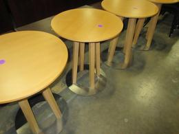 Modern look maple finish tables