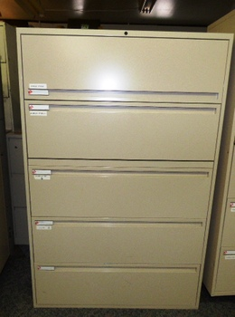 "KI 5 DRAWER 42"" LATERAL FILING CABINET"