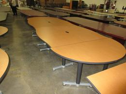 Haworth conference ganging tables