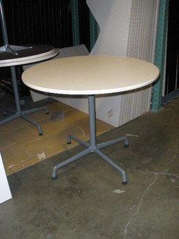 "Herman Miller Eames 36"" round tables"