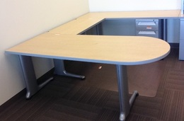 Herman Miller L-shaped desks