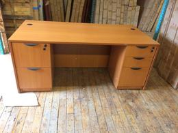 **USED** LIGHT CHERRY LAMINATE DESK