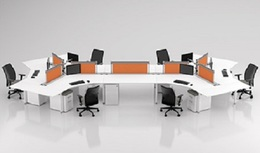 Compel Benching and Private Office Desks