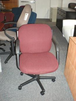 4737 Global Conference Room Chair Burgundy