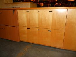 USED MAPLE 2-DRAWER LATERAL FILE