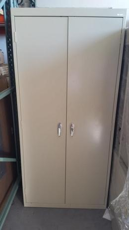 "Putty Metal Storage cabinets 78"" tall"