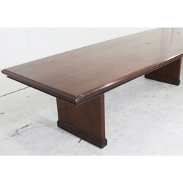 Beautiful Cherry Veneer Boat-Shaped Table