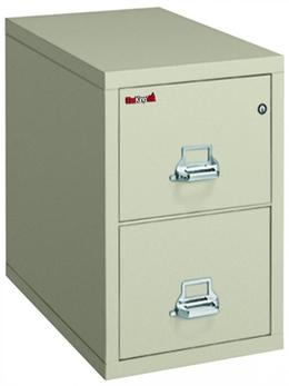 Fire King 2 Drawer Vertical File Letter Parch