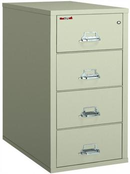 Fire King 4 Drawer Vertical File Legal Parchm
