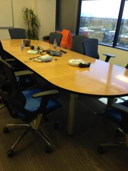 12ft Maple Veneer Conference Table