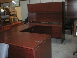 Hon 10700 NN Desk Bridge Credenza Hutch