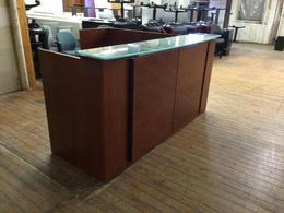 Reception Station Veneer Medium Cherry