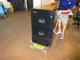 Fire King 2 drawer legal vertical with riser