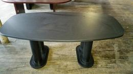 6 Foot Black Used Conference Table
