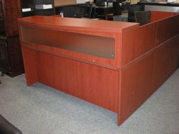 Mayline Reception Desk Cherry Laminate