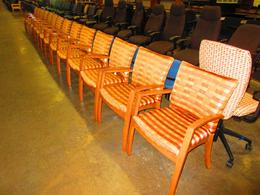 Knoll wood guest chairs