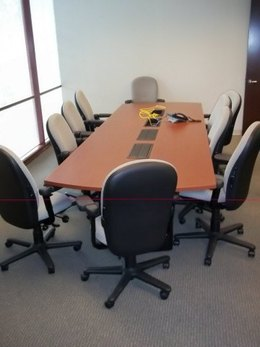 Used Conference Table / Visual Boards