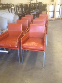 Cool Leather Guest Chairs Bright Color