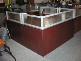 66 x 78 Mahogany Reception Desk Laminate