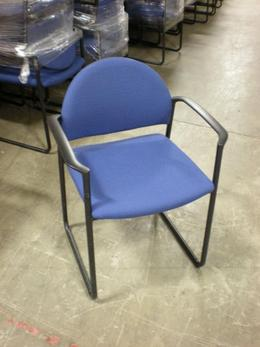 Kimball Side Guest Chairs Blue Fabric